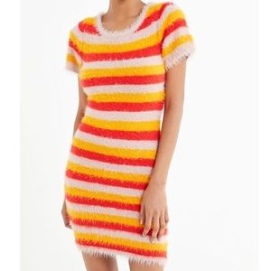 Urban Outfitters Fuzzy Stripped Bodycon Dress ✨🌟